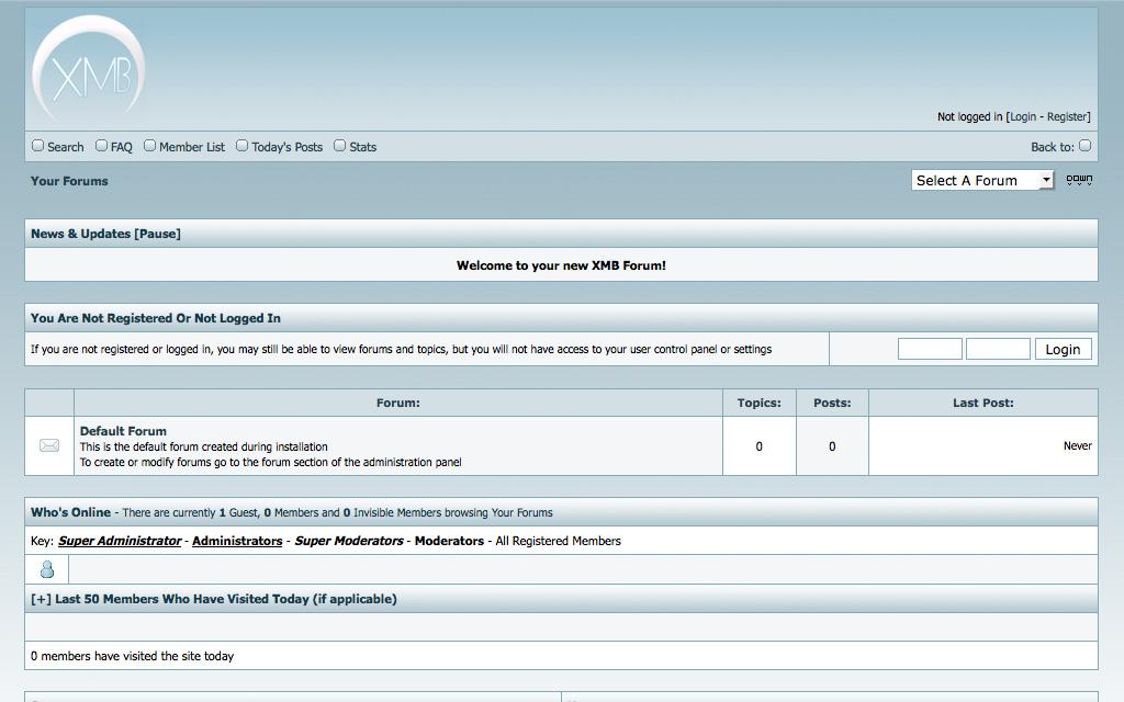 XMB Forum Frontpage UI